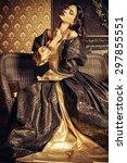 renaissance style    beautiful... | Shutterstock . vector #297855551