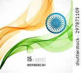 indian independence day concept ... | Shutterstock .eps vector #297871109