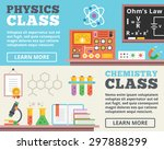 physics class and chemistry... | Shutterstock .eps vector #297888299