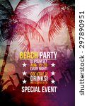 beach party flyer   vector...