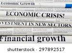newspapers headlines | Shutterstock . vector #297892517