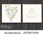 floral banner in vintage style. ... | Shutterstock .eps vector #297897494