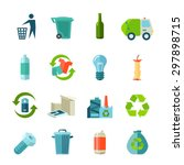 recycling icons set with waste... | Shutterstock .eps vector #297898715
