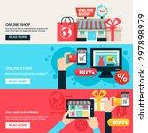 internet shopping web market... | Shutterstock .eps vector #297898979