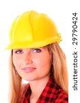 pretty girl  in a yellow... | Shutterstock . vector #29790424