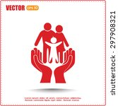 family life insurance sign icon.... | Shutterstock .eps vector #297908321