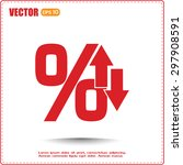 percentages up and down flat...   Shutterstock .eps vector #297908591