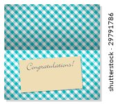 trendy card with vichy pattern... | Shutterstock . vector #29791786