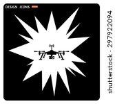 quadrocopter. icon. vector...   Shutterstock .eps vector #297922094