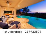 beautiful luxury home with... | Shutterstock . vector #297923579