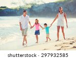 young happy family having fun... | Shutterstock . vector #297932585