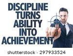 business man point  discipline... | Shutterstock . vector #297933524