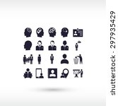 business man icons | Shutterstock .eps vector #297935429