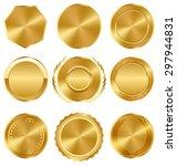 golden premium quality best... | Shutterstock .eps vector #297944831