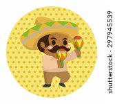 mexican theme elements   Shutterstock .eps vector #297945539