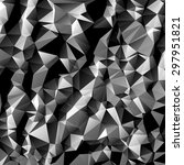 black and white polygon... | Shutterstock .eps vector #297951821