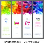 set of four banners  abstract... | Shutterstock .eps vector #297969869