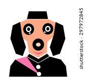 cute dog vector  | Shutterstock .eps vector #297972845