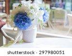 decorative artificial flower on ... | Shutterstock . vector #297980051