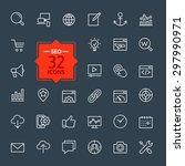outline web icons set   search... | Shutterstock .eps vector #297990971