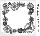 steampunk frame collage of... | Shutterstock .eps vector #297996944