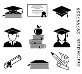 graduation and education icons... | Shutterstock .eps vector #297997229