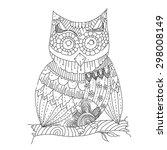 owl line art vector | Shutterstock .eps vector #298008149