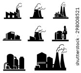factory icons vector | Shutterstock .eps vector #298008521