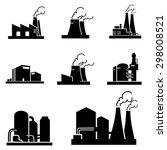 factory icons vector | Shutterstock .eps vector #298008521