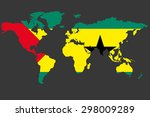 an illustrated map of the world ... | Shutterstock . vector #298009289