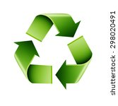 recycle infographics on a white ... | Shutterstock . vector #298020491