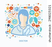 doctor and healthy care concept ... | Shutterstock .eps vector #298025321