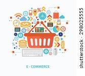 e commerce concept design on... | Shutterstock .eps vector #298025555