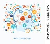 idea connection concept design... | Shutterstock .eps vector #298025597
