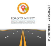 road to infinity  road vector... | Shutterstock .eps vector #298026287