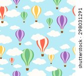 air balloons in the sky.... | Shutterstock .eps vector #298031291