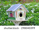 Beautiful Bird House In A Lush...