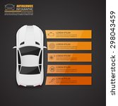 car auto service infographics... | Shutterstock .eps vector #298043459