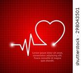 illustration of life line... | Shutterstock .eps vector #298043501