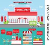 supermarket business management ... | Shutterstock .eps vector #298047215