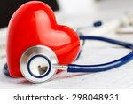 Medical Stethoscope And Red To...
