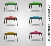 tent  canopy  summer roof ... | Shutterstock .eps vector #298050527
