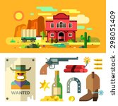 Wild West Landscape  Icons ...