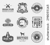 vector set of irish and british ... | Shutterstock .eps vector #298055165