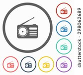 radio icon | Shutterstock .eps vector #298062689