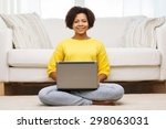 people  technology and leisure... | Shutterstock . vector #298063031