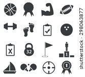 16 sport icons set