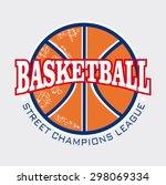 basketball element vector... | Shutterstock .eps vector #298069334