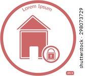 lock house icon | Shutterstock .eps vector #298073729