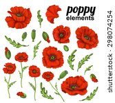 Poppy Flower. Red Poppies...